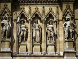 Figures Sculpted in Stone Below the Clock-Tower  Rathaus (1872-73)  Vienna  Austria