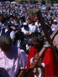 Pilgrim in Santuario De La Inmaculada Concepcion Parade  Chile