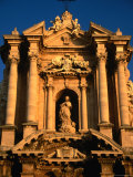 Baroque Facade of Il Duomo  Syracuse  Sicily  Italy