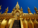 Detail of Pha That Luang  Vientiane  Laos