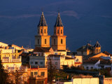 Twin Spires of Town Church  Orgiva  Andalucia  Spain