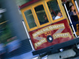 Passengers on a Trolley Car  San Francisco  California  USA