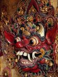 Traditional Balinese Wooden Mask for Sale in Ubud  Ubud  Indonesia