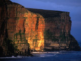 Sunset Light on Old Red Sanstone Cliffs South of Rackwick Bay  Scotland