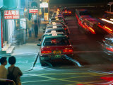 Peak Hour Traffic in Kowloon  Hong Kong  China