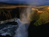 Gulfoss Waterfall and Canyon at Sunrise  Gullfoss  Vesturland  Iceland