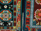 Tibetan Carpets for Sale at Market on Barkhor Square  Lhasa  Tibet