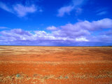 Barren Landscape on Desert Highway  Australia