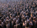 Crowds of Naga Sadhus During Maha Kumbh Mela Festival  Allahabad  India