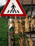 Wooden Sculptures and Statues for Sale by Roadside  Cluj-Napoca  Cluj  Romania