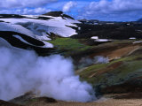 Steam Rising from Storihiver Hot Springs  Fjallabak Nature Reserve  Sudurland  Iceland