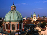 Dome of Church of St Francis Seraphinus Seen from Old Town Bridge Tower  Prague  Czech Republic
