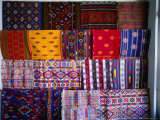 Local Fabrics on Display  Punakha  Bhutan
