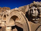 Gorgon Medusa Head on the Arches of the Severan Forum  Leptis Magna  Al Khums  Libya