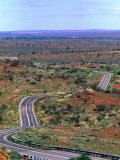 Highway Winding Through Countryside Outside Broken Hill  Broken Hill  New South Wales  Australia