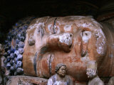 Reclining Buddha at Baoding Grottoes  Dazu  China