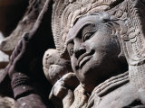 Detail of Carved Statue at the Terrace of the Leper King  Angkor Thom  Angkor  Cambodia
