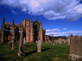 Ruins of Melrose Abbey and Cemetery  Melrose  United Kingdom