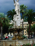 Statue of Christopher Columbus  Santa Margherita  Liguria  Italy