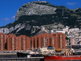 Port and Apartment Blocks Beneath Rock of Gibraltar  Gibraltar  Gibraltar