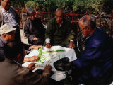Mahjong Players at Rear Lakes  Beijing  China