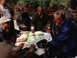 Mahjong Players at Rear Lakes  Beijing  China