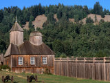 Building in Fort Ross Historic State Park  California  USA