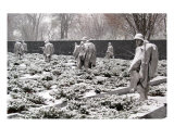 Korean War Memorial Snow Scene Photo 1