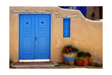 Blue Door And Adobe Wall  Taos  NM