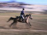Game of Cirit  Javelin Throwing on Horseback  Blur  Erzurum  Turkey