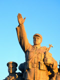 Socialist Statue on Tiananmen Square  Beijing  China