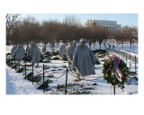 Korean War Veterans Memorial Snow