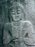 Seated Buddha Carved into Rock at Beopjusa Temple  Beopjusa  Chungcheongbuk-Do  South Korea