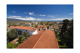Red Tile Roofs Of Santa Barbara California