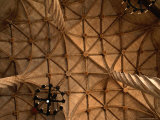 Ceiling Detail of 15th Century Lonja (Commodity and Silk Market)  Valencia  Spain