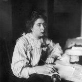 Sylvia Pankhurst Sitting at Her Desk Writing a Letter