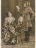 Sarah Bernhardt French Actress (Right) with Mrs Patrick Campbell Who Doesn&#39;t Seem Very Excited