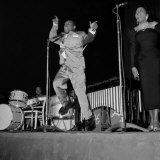 1950s Jazz Performers  Lionel Hampton  Band Leader at the Empress Hall in London