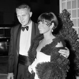 Steve Mcqueen with Wife Neile Adams Attend Hollywood Party  November 1965