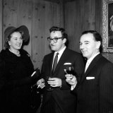 Maurice Woodruff Clairvoyant with Peter Sellers and Katie Boyle at Pye Records  January 1960