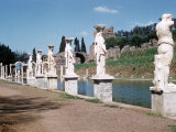 Swimming Pool at Ruins of Hadrian's Villa at Tivoli Near Rome  Italy