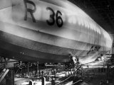 Beardmore R36 Airship G-Faaf Moored Inside It's Giant Hangar  1924