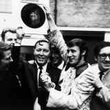 Bill Haley of the Comets is Presented with an Original 78RPM Record of Rock Around the Clock  1968
