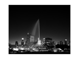 Chicagos Buckingham Fountain  Black & White