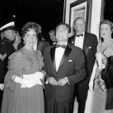 Elizabeth Taylor and Husband Mike Todd at the Premere of Around the World in 80 Days  March 1957