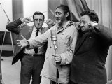 Spike Milligan  Harry Seacombe and Peter Sellers Rehersing for the Goons Radio Show  March 1963
