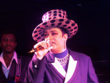 Boy George from Culture Club Singing at the Labour Conference Party  September 1999