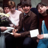 Davy Jones of the Monkees Signs Autographs after Visiting the Belle Vue Zoo  1968