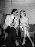Marilyn Monroe with Her New Husband Arthur Miller at a Press Conference
