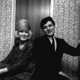 Dusty Springfield with Pop Star Eden Kane in Her Dressing Room at Croydon  February 1964